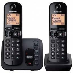 Teléfono inalámbrico de c/contestador 2 bases Panasonic