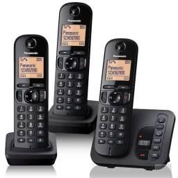 Teléfono inalámbrico de c/contestador 3 bases Panasonic
