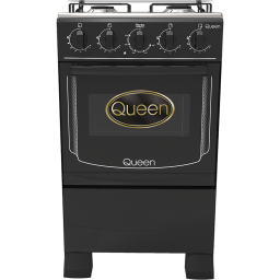 Cocina supergas 4 hornallas Queen negra c/encendido