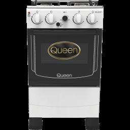Cocina combinada 4 hornallas Queen blanca c/termostato